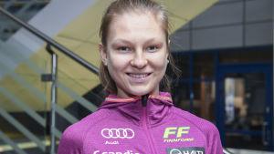 Eveliina Piippo på landslagets medieträff hösten 2019.
