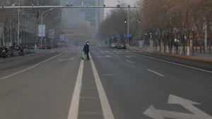 Tomma gator i Peking 27.1.2020