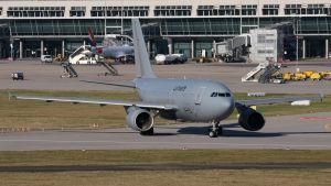 Ett Airbus-flygplan tillhörande det tyska flygvapnet