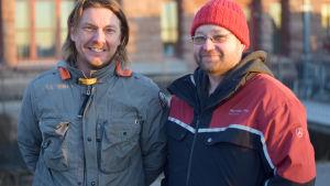 Porträttbild på Anders Augustsson och Tom Rönnblad.