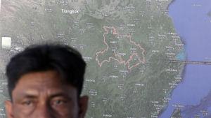 Karta över Kina
