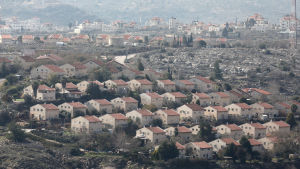 Den israeliska bosättningen Ofra på Västbanken 5.2.2020
