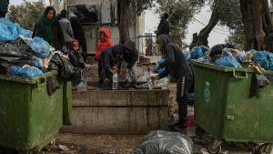 flyktingläger, moria, lesbos