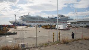 Diamond Princess hade 3 700 passagerare och besättningsmän ombord då det försattes i karantän den 3 februari i Yokohama.