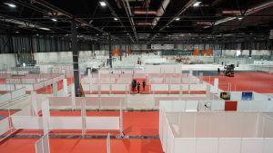 Mässcentret Ifema i Madrid används nu som vårdutrymme 21.3.2020