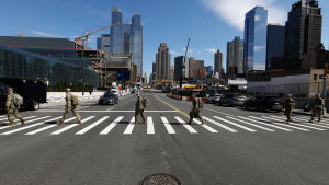 Soldater i New York under coronaviruspandemin
