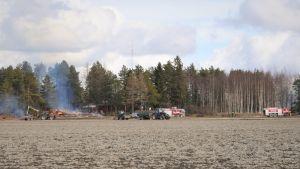 En lada brann ner i Malax.