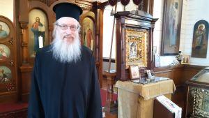 Harry Fagerlund i den ortodoxa kyrkan i Hangö.