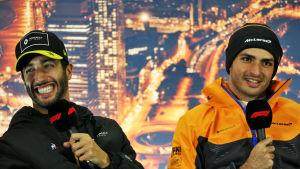 Daniel Ricciardo och Carlos Sainz.
