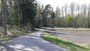 En väg på området Pickala-Marsudden som ska delgeneralplaneras.