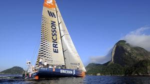 Ericson 3 anländer till Rio de Janeiro i Ocean Race 2008/2009.