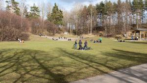 Alpparken, Helsingfors, 18.4.