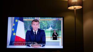 Emmanuel Macron talar till folket 14.6.2020