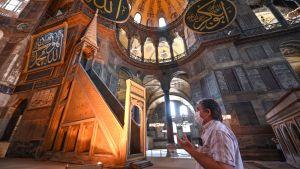 Interiör från Hagia Sophia i Istanbul