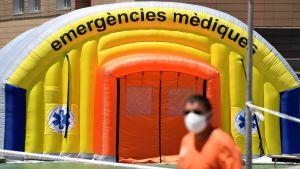 Ett fältsjukhus för coronapatienter