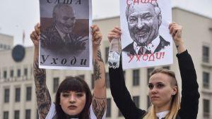 Demonstration i Minsk 23.8.2020