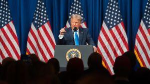 Donald Trump på Republikanernas partikonvent i USA 24.8.2020.