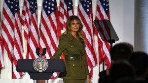 Melania Trump efter att ha hållit tal under Republikanernas konvent 25.8.2020