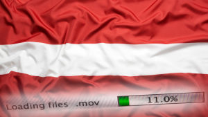 Lettlands flagga i rörr-vitt-rött.