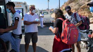Pino Maggiore som arbetar med turister och migranttransporter i Lampedusa.