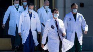 Trumps läkarteam berättade om presidentens hälsa 3.10.2020