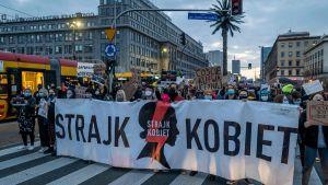 "Demonstration ""Kvinnors protest"" mot abortlag i Polen. Warszawa 26.10.2020"