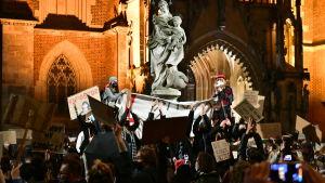 Demonstration mot abortlag i Polen.  Wroclaw 26.10.2020