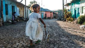 Flicka i Gondar, Etiopien