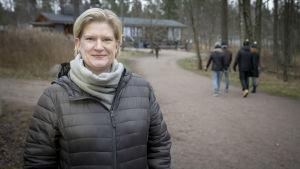Mia Kontio Lauttasaaressa.