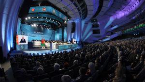 """Aleksandr Lukasjenko talar till den """"allbelarusiska folksamlingen"""" 11.2.2021 i Minsk"""