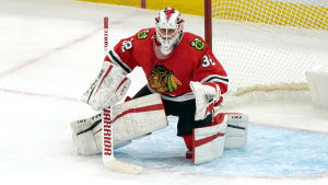 Kevin Lankinen vaktar målet