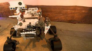 En vision av Perseverance då den ska stå på Mars yta