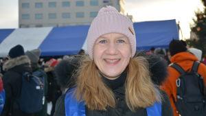 Leena Forsén är kommunikationschef vid Vasa stad. Dillmakaronifesten kallar hon en stor succé.