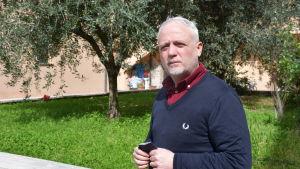 Projektledaren Massimo Pasqau vid Caritas i rom