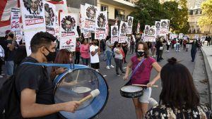 Demonstration i Brasilien mot president Bolsonaros hantering av coronapandemin