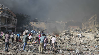 Kvinna och barn dodade i bombdad