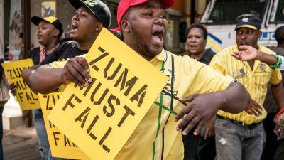 Vaxande protester i sydafrika