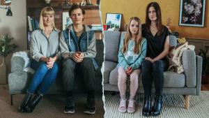 Kuvassa Katri (Pirjo Lonka), Aleksi (Bruno Baer), Aile (Ella Kangas) ja Evelin (Sara Soulié)