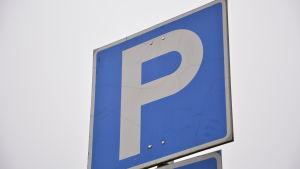 Skylt för parkeringsplats
