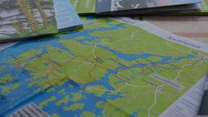karta över kustrutten