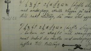 Utdrag ur Maximilian Stejskals handskrivna material till en doktorsavhandling om manliga friluftslekar.