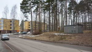 Tomten i Karis där det skulle kunna byggas ett stadshus i Raseborg.