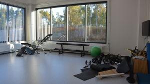 Gymmet i Karis nya brandstation.