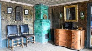 vihreä renessanssiuuni Lebellin kauppiaantalosta Kristiinankaupungista