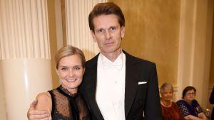 Marcus Grönholm och Teresa Grönholm på slottsbalen.