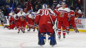 Tjeckien besegrade Finland i JVM i ishockey.