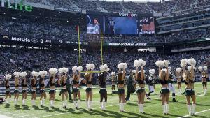 Cheerleaders för NY Jets.