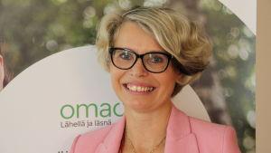 Minna Sillanpää är kommunikationsdirektör på Oma sparbank.