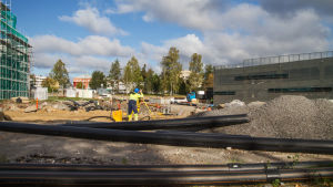 Byggarbeten vid Vasa centralsjukhus