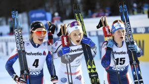 Stina Nilsson åker sprint.